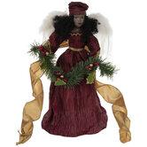 Angel Holding Garland Tree Topper