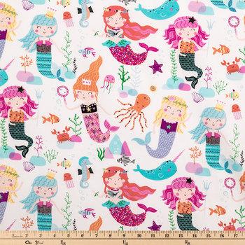 Mermaids Under-The-Sea Cotton Fabric