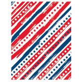 "Diagonal Stars & Stripes Scrapbook Paper - 8 1/2"" x 11"""
