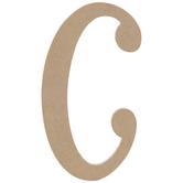 "Uppercase Script Wood Letter C - 6"""