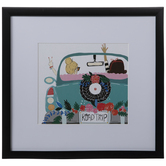 Girl's Road Trip Framed Wall Decor