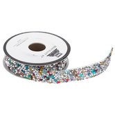 Rainbow Rhinestones Iron-On Trim - 19/32""