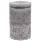 Grey Skies Layered Pillar Candle