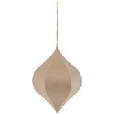 Paper Mache Onion Ornament