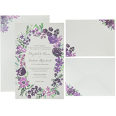 Purple Flowers Wedding Invitations