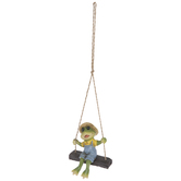 Swinging Frog Boy Hanging Decor