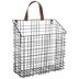 Black Metal Wall Basket - Large