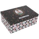 Craftiness Is Happiness Floral Storage Box