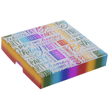 Rainbow Foil Birthday Gift Card Box