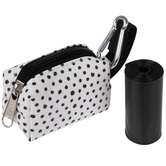 White & Black Dot Dog Waste Bag Pouch