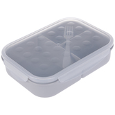 Gray Divided Lunch Container