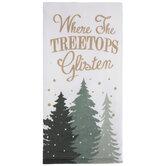 Treetops Glisten Kitchen Towel