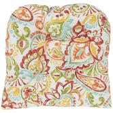 Papaya Paisley Seat Cushion