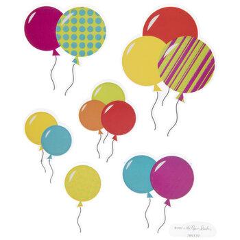 Birthday Balloon Glitter Stickers