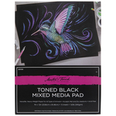 """Master's Touch Toned Black Mixed Media Paper Pad - 9"""" x 12"""""""