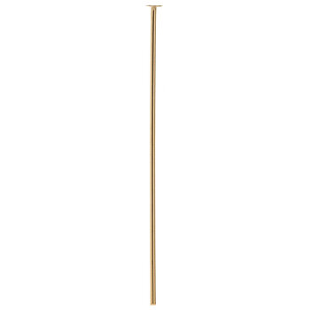 """10K Gold Plated Head Pins - 1 1/2"""""""