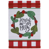 Joyful & Very Merry Garden Flag