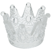 Glass Crown Candle Holder