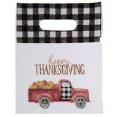 Happy Thanksgiving Truck Zipper Bags
