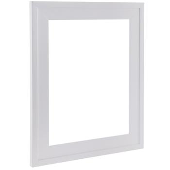 White Stepped Wood Open Frame
