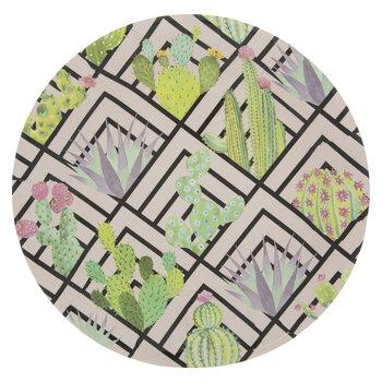 Pink Geometric Print Succulent Paper Plates