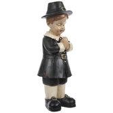 Praying Pilgrim Boy