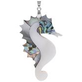 Mosaic Seahorse Pendant