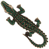 Alligator Rhinestone Brooch