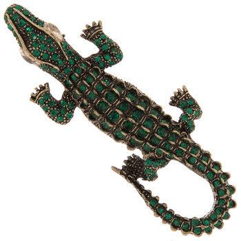 Alligator Rhinestone Brooch