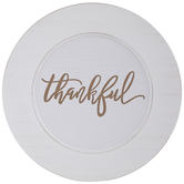 Thankful Wood Charger Plate