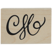 Swirling Flourish Rubber Stamp