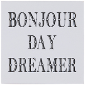 Bonjour Day Dreamer Wood Wall Decor
