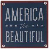 America The Beautiful Wood Decor