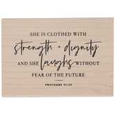 Proverbs 31:25 Rubber Stamp
