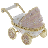 Pink Baby Carriage Jewelry Box