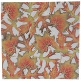 Orange & Green Foil Leaves Napkins - Large