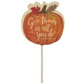 1 Thessalonians 5:18 Pumpkin Cupcake Toppers