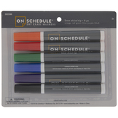 Classic Chisel Tip Dry Erase Markers - 6 Piece Set