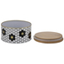 White, Black & Gold Hexagon Tin Canister