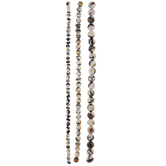 Black, Brown & White Stone Bead Strands
