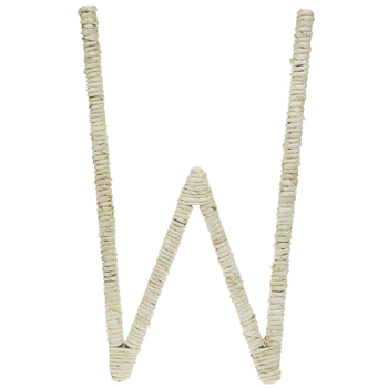 Cornstalk Wrapped Letter Wall Decor - W