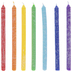 Rainbow Hanukkah Candles