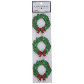 Green Glitter Wreath Wood Embellishments
