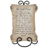 Lord's Prayer Scroll Decor