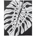 Black & White Monstera Leaf Canvas Wall Decor