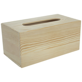 Wood Tissue Holder