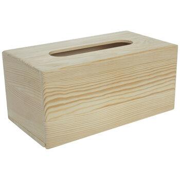Wood Tissue Holder