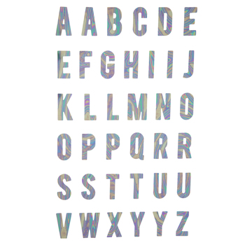 Holographic Uppercase Alphabet Stickers