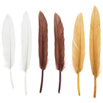 "Earth Mix Mini Craft Feathers - 3"""