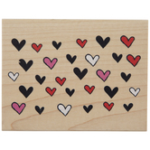 Allover Hearts Rubber Stamp